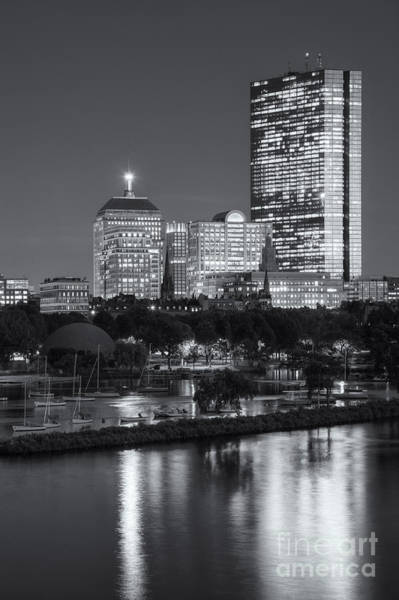 Photograph - Boston Night Skyline Vii by Clarence Holmes