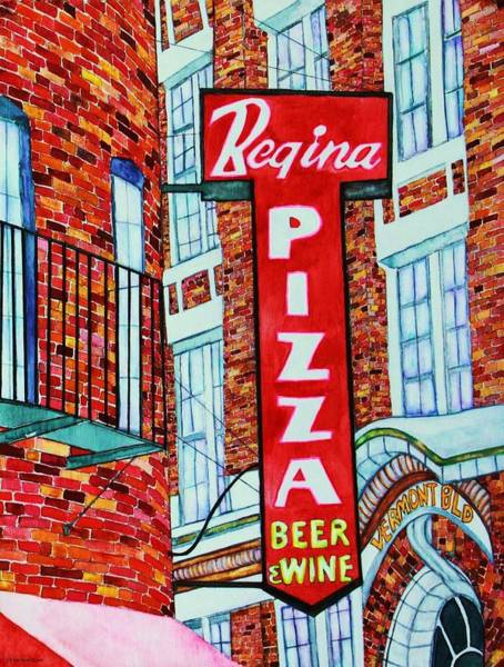 Boston North End Wall Art - Painting - Boston Pizzeria  by Janet Immordino