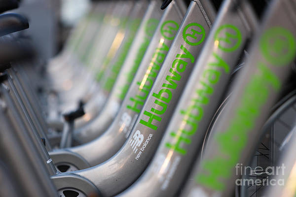 Photograph - Boston Public Bikes II by Clarence Holmes