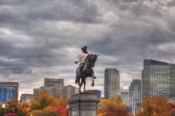 Photograph - Boston Public Garden In Autumn by Joann Vitali