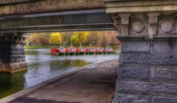 Swan Boats Photograph - Boston Public Garden Swan Boats 2 by Joann Vitali