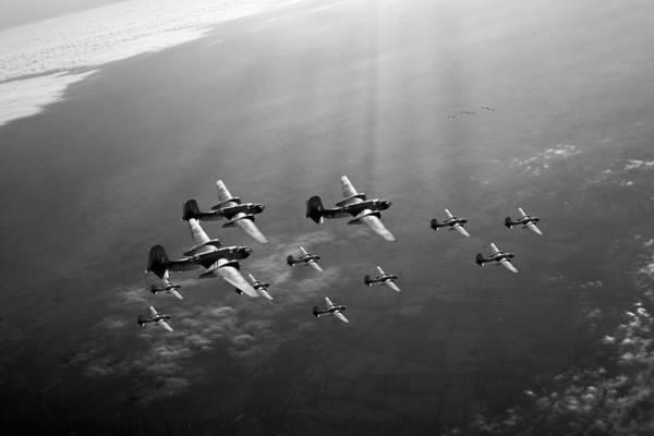Photograph - Boston Raiders Black And White Version by Gary Eason