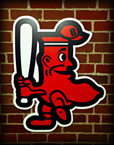 Wall Art - Photograph - Boston Red Sox 1950s Logo by Stephen Stookey