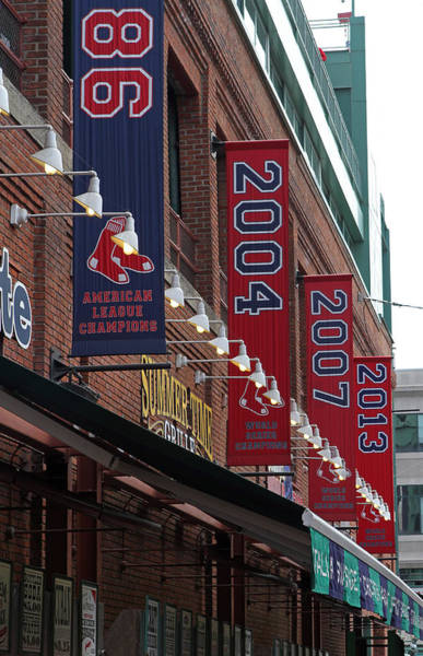 Photograph - Boston Red Sox 2013 Championship Banner by Juergen Roth