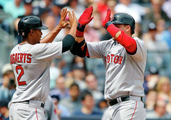 Yankee Stadium Photograph - Boston Red Sox V New York Yankees by Jim Mcisaac