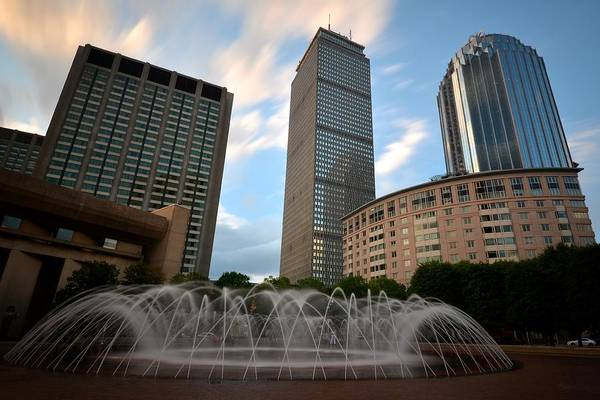 Photograph - Boston Back Bay Reflecting Pool Fountain by Toby McGuire