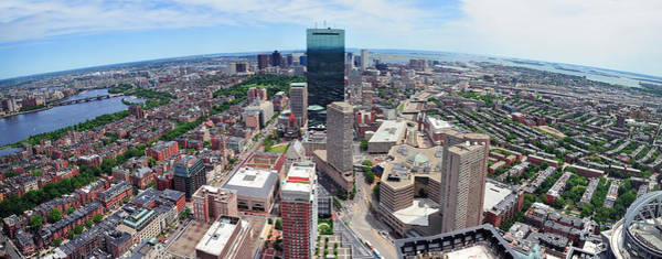 Photograph - Boston Skyline Aerial View by Songquan Deng