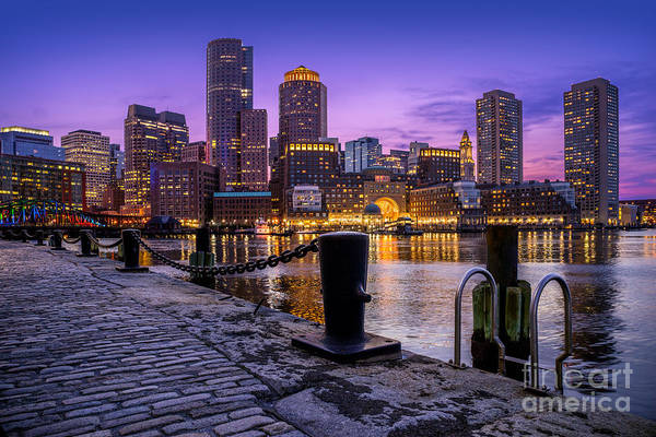 Wall Art - Photograph - Boston Skyline At Twilight by Jerry Fornarotto