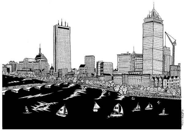 Boston Skyline Back Bay Art Print