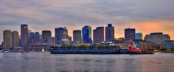 Wall Art - Photograph - Boston Skyline Panoramic At Sundown by Joann Vitali
