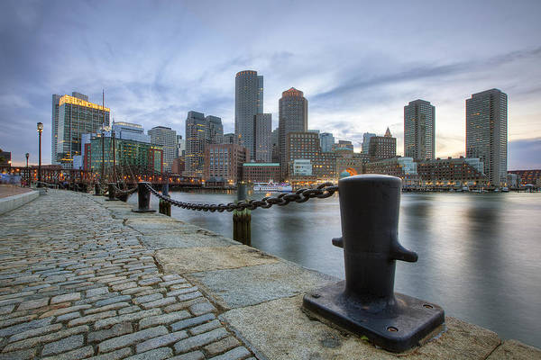 Seacoast Wall Art - Photograph - Boston Skyline Sunset by Eric Gendron