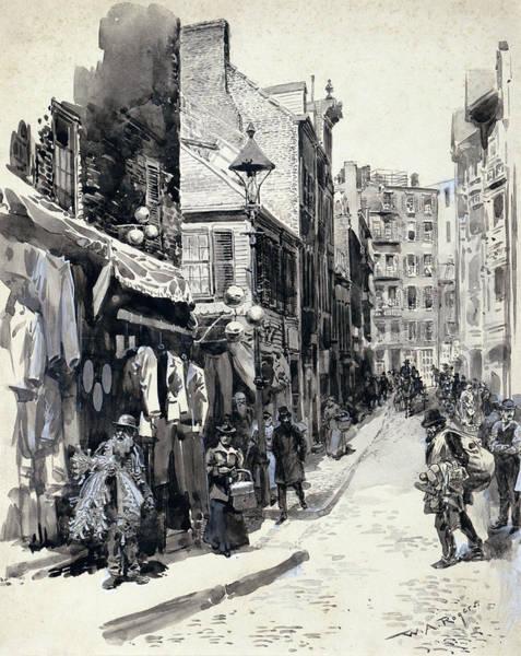 Wall Art - Painting - Boston Street Scene by Granger