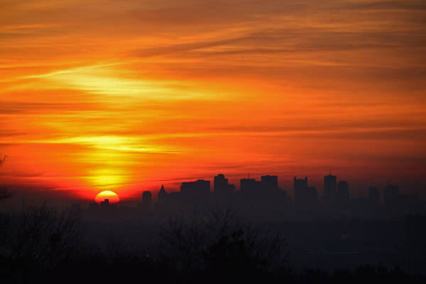 Photograph - Boston Sunrise by Ken Stampfer