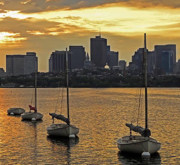 Photograph - Boston Sunrise by Robert Mitchell