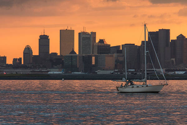 Villandry Photograph - Boston Sunset by Christopher Villandry