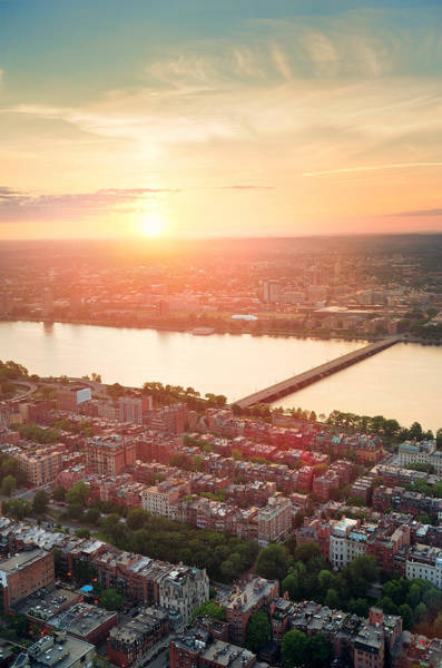 Wall Art - Photograph - Boston Sunset by Songquan Deng