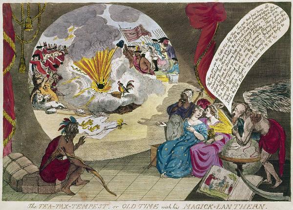 Wall Art - Photograph - Boston Tea Party Cartoon by Granger