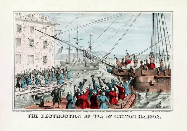 Wall Art - Photograph - Boston Tea Party by Library Of Congress/science Photo Library