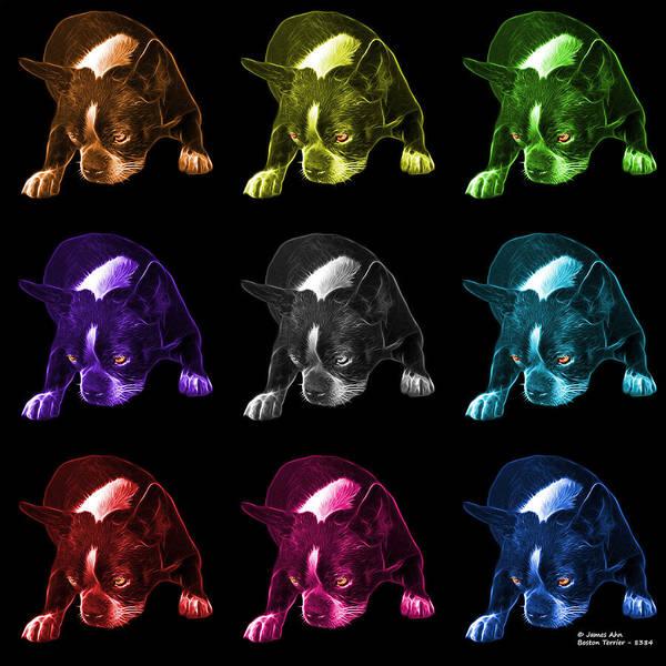Mixed Media - Boston Terrier Art - 8384 - Bb - M by James Ahn