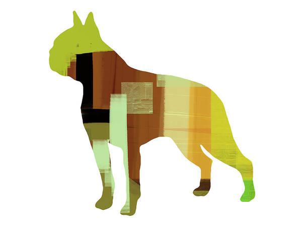 Terrier Painting - Boston Terrier by Naxart Studio