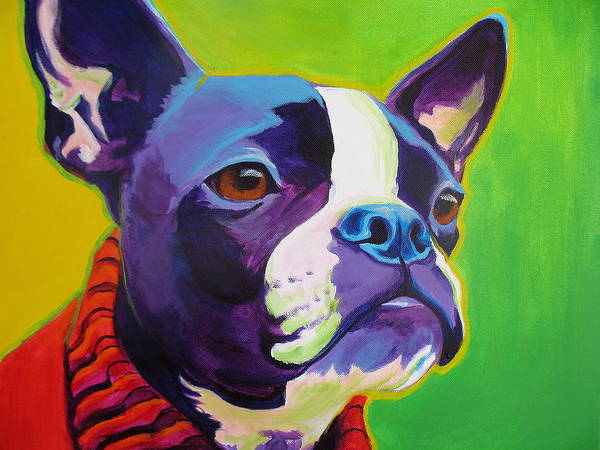 Wall Art - Painting - Boston Terrier - Ridley by Alicia VanNoy Call