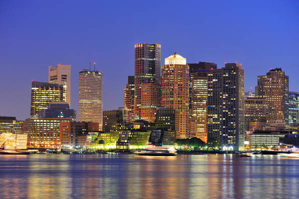 Photograph - Boston Urban Buildings by Songquan Deng