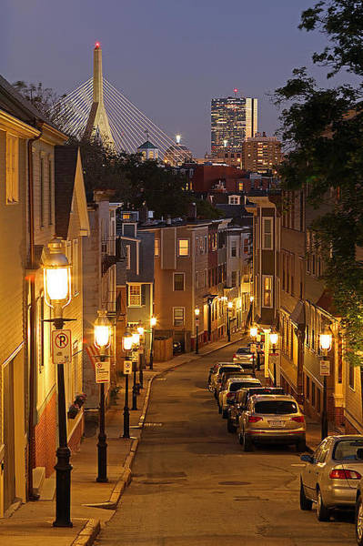 Light Photograph - Boston View From Charlestown by Juergen Roth