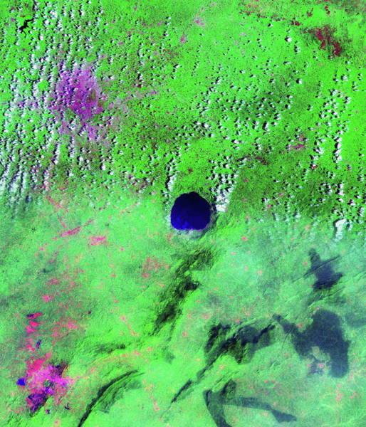 Ir Photograph - Bosumtwi Lake by Nasa/science Photo Library