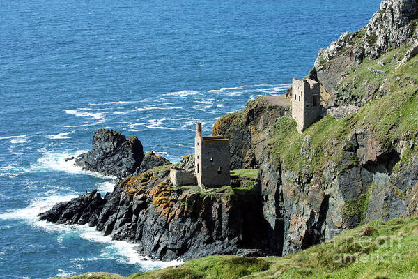 Engine House Wall Art - Photograph - Botallack Crown Engine Houses Cornwall by Terri Waters