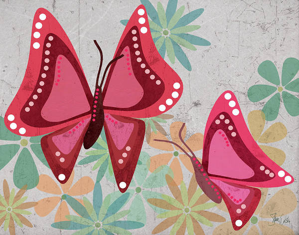 Mod Painting - Botanical And Butterflies by Shanni Welsh
