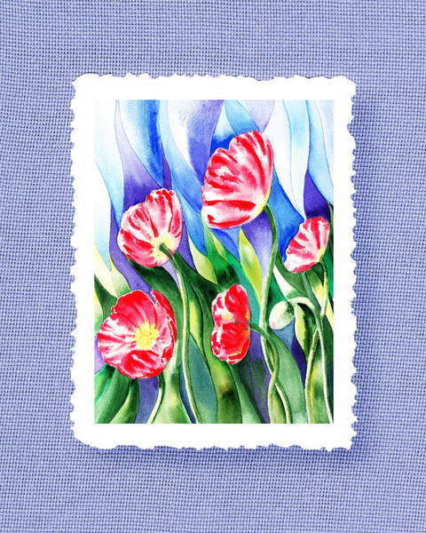 Painting - Botanical Impressionism Poppies In The Wind by Irina Sztukowski