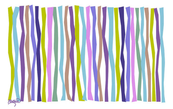 Vertical Line Digital Art - Cool Waters Color Sticks  by Patricia Lintner