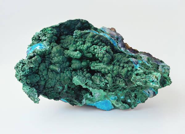 Carbonate Photograph - Botryoidal Malachite On Chrysocolia by Dorling Kindersley/uig