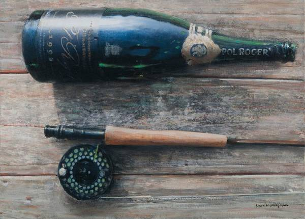 Champagne Painting - Bottle And Rod I by Lincoln Seligman