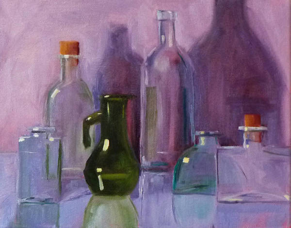 Wall Art - Painting - Bottle Collection by Nancy Merkle