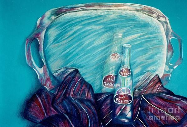 Drawing - Bottle Reflection by Jon Kittleson