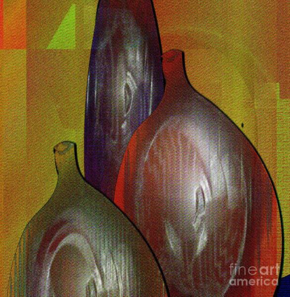 Jug Digital Art - Bottles 2 by Iris Gelbart