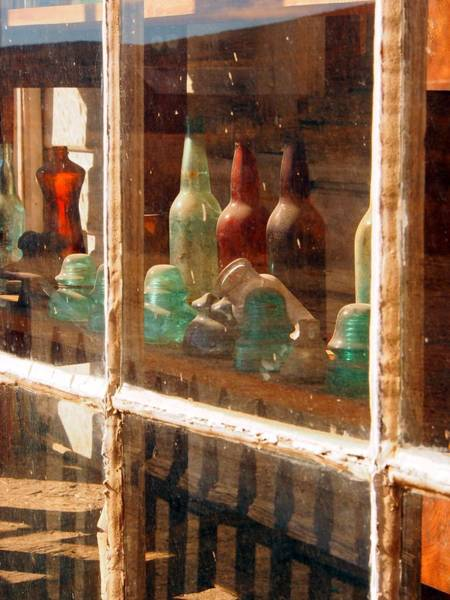 Glass Insulator Photograph - Bottles At Bodie by Michele  James
