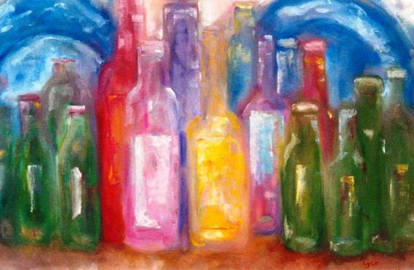 Lyle Painting - Bottles by Lord Frederick Lyle Morris - Disabled Veteran