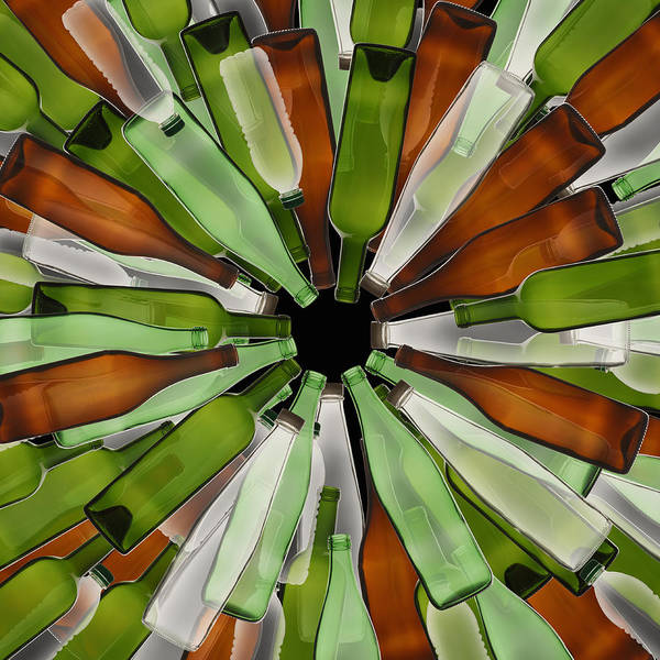Bottle Green Photograph - Bottles In Shape Of Iris by Paul Taylor