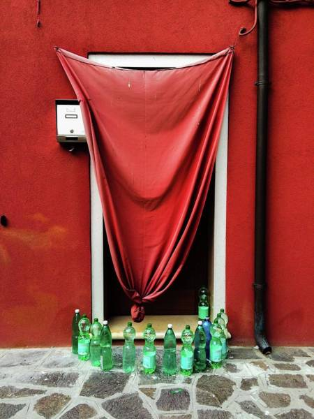 Bottle Photograph - Bottles Outside House by Andrea Armellin / Eyeem