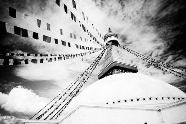 Photograph - Boudhanath Giant Buddhist Stupa In Kathmandu Himalaya Nepal  by Raimond Klavins