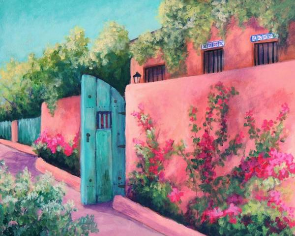 Adobe Walls Painting - Bougainvillea Wall by Candy Mayer