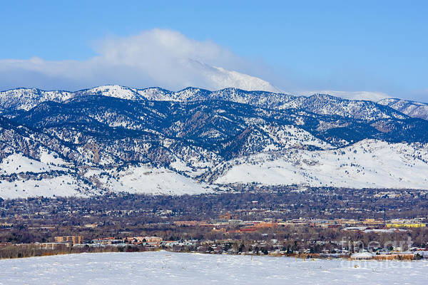 Photograph - Boulder And Longs Peak by Steve Krull