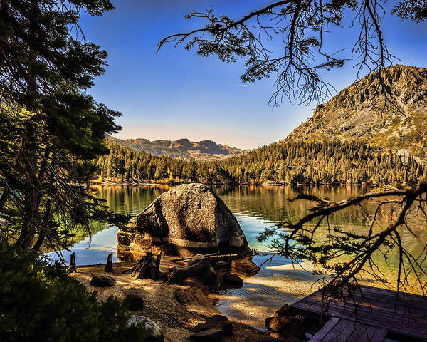Photograph - Boulder At Fallen Leaf Lake by William Havle