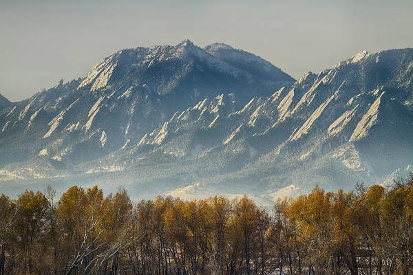 Photograph - Boulder Colorado Flatirons Autumn View by James BO Insogna