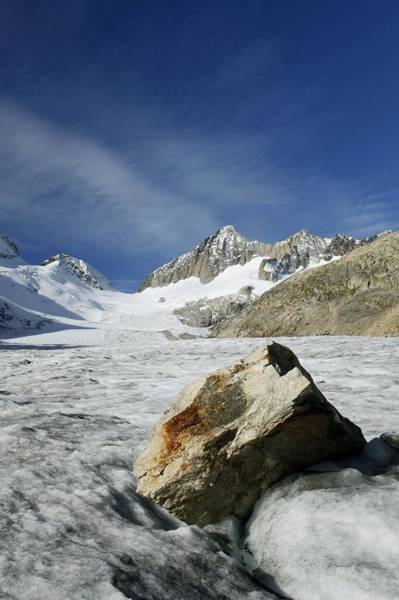 Glacial Erratic Photograph - Boulder On A Glacier by Science Photo Library