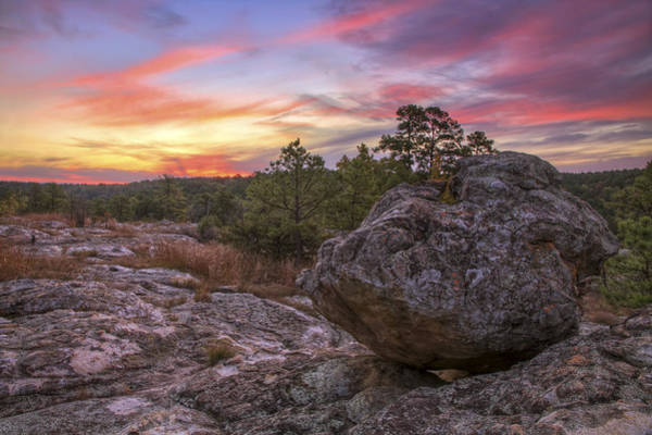 Photograph - Boulder On Turtle Rocks - Petit Jean - Arkansas by Jason Politte