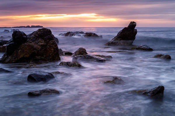 Photograph - Boulders In The Surf by Jeff Sinon
