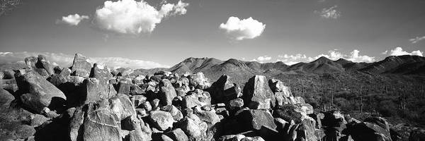 Petroglyph Photograph - Boulders On A Landscape, Saguaro by Panoramic Images